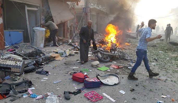 Tel Abyad'da pazar yerine saldırı, çok sayıda ölü var