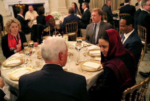 Trump, Beyaz Saray'da iftar yemeği verdi