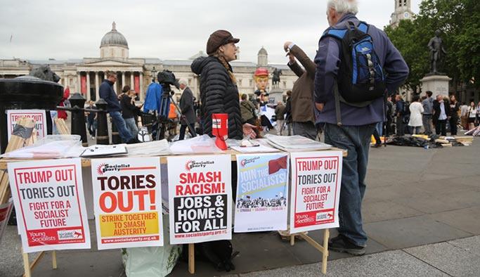 Londra'da Trump'a karşı protesto gösterileri