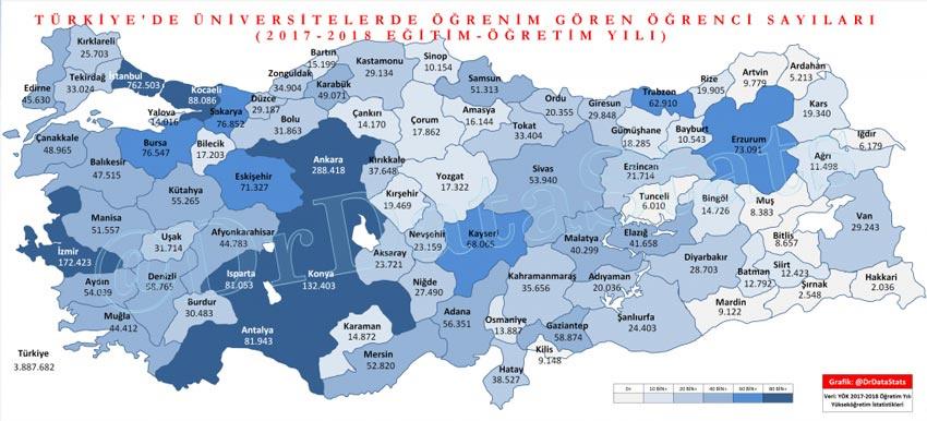 Türkiye'deki öğrenci sayısı açıklandı