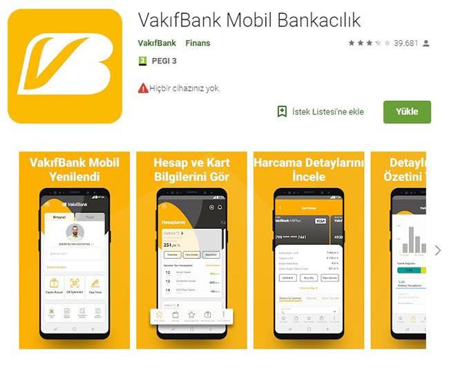 vakıfbank mobil aplikasyon yükle samsung