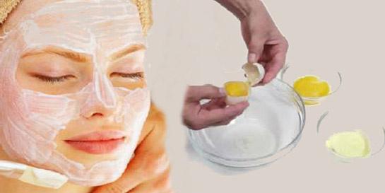 Yumurta akı maskesi yapılışı